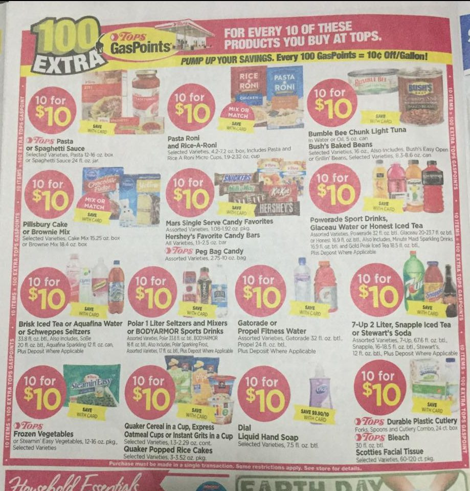 Tops Markets Ad Scan Week Of 4 16 17 To 4 22 17 Page 6a