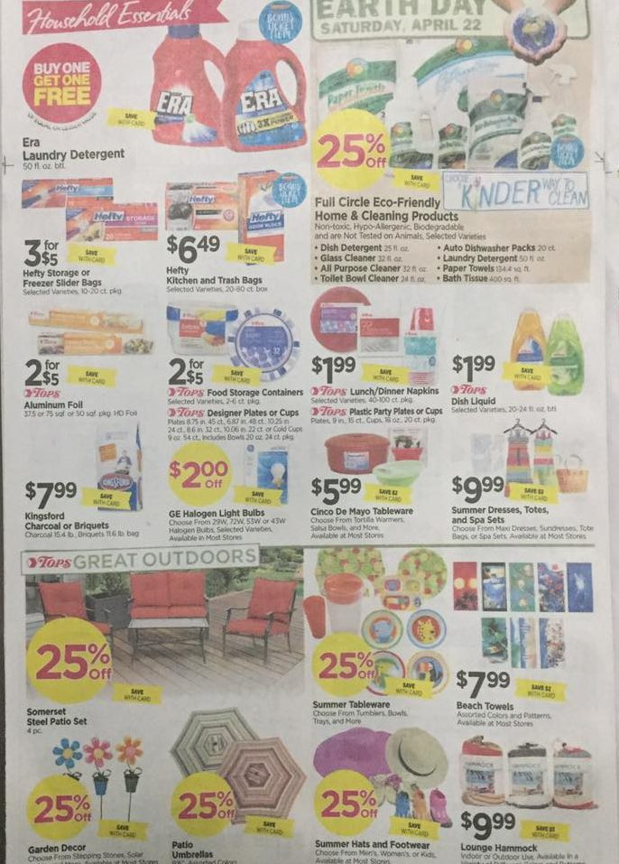 Tops Markets Ad Scan Week Of 4 16 17 To 4 22 17 Page 6b