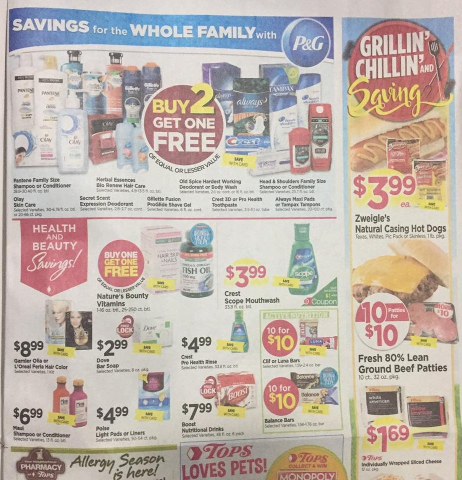 Tops Markets Ad Scan Week Of 4 16 17 To 4 22 17 Page 7a