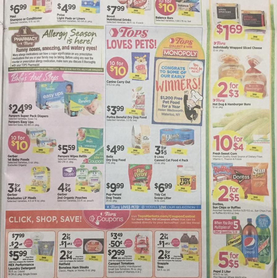Tops Markets Ad Scan Week Of 4 16 17 To 4 22 17 Page 7b