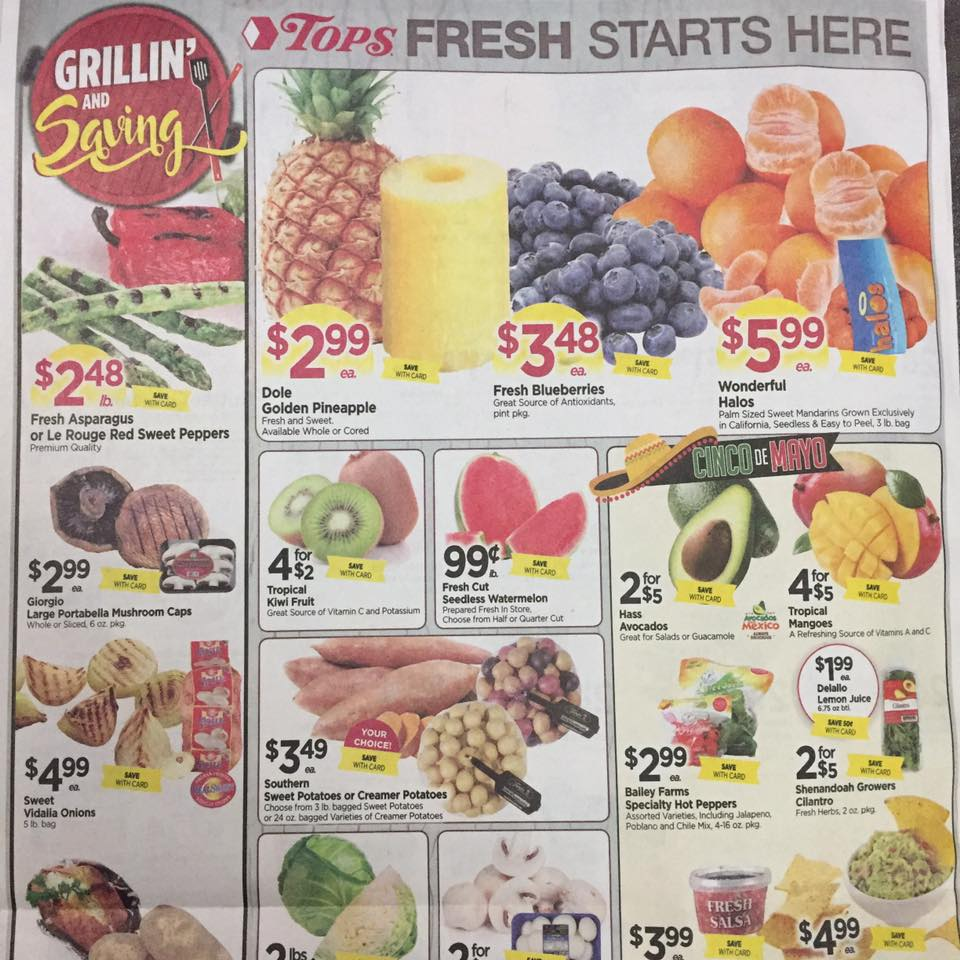 Tops Markets Ad Scan Week Of 4 30 17 To 5 6 17 Page 8a