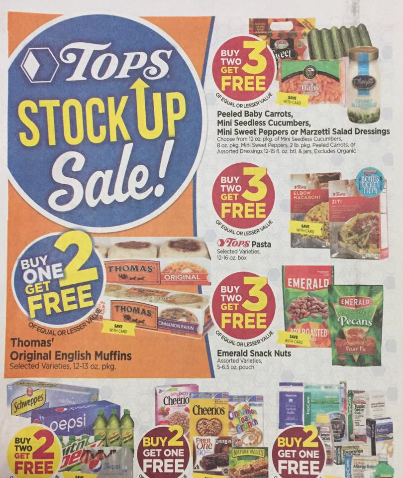 Tops Markets Ad Scan Week Of 4 30 17 To 5 6 17 Page W1