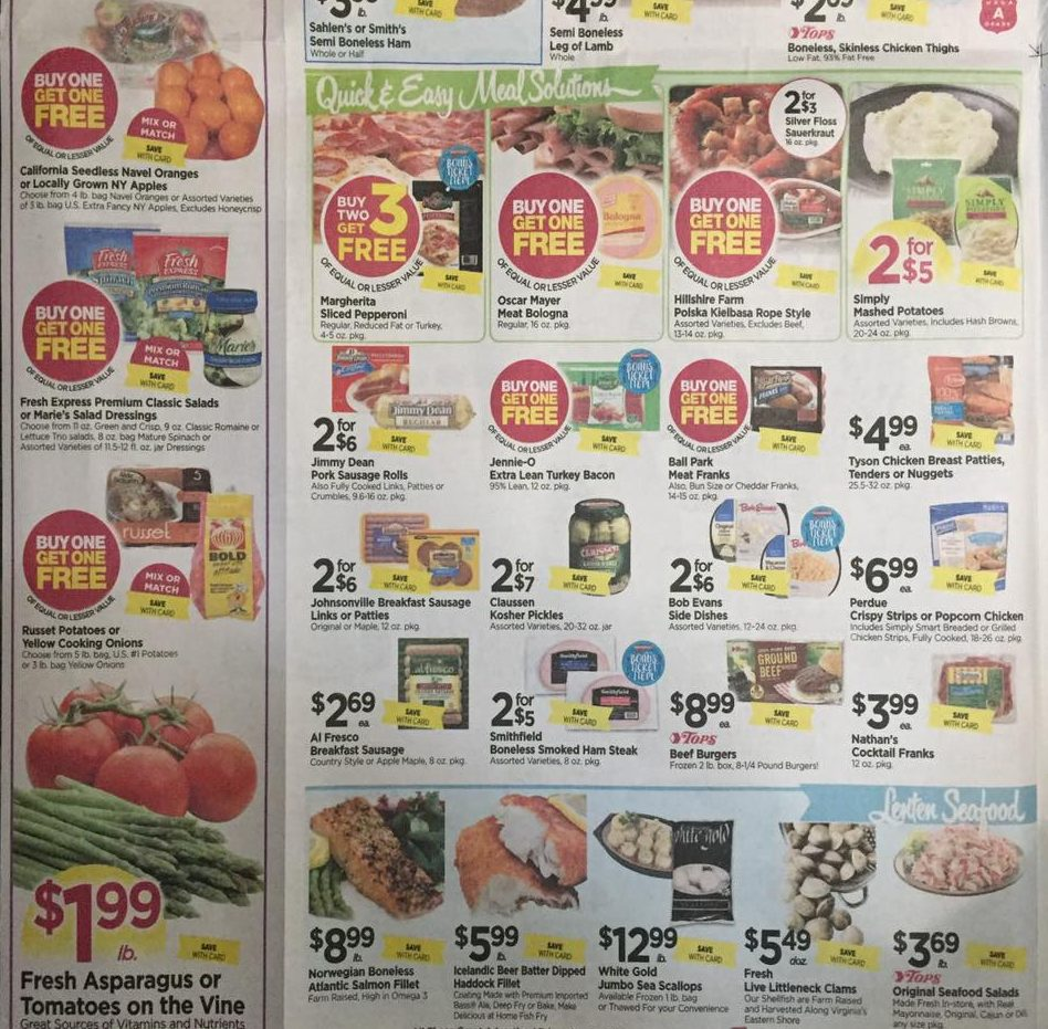 Tops Markets Ad Scan Week Of 4 9 17 To 4 15 17 Page 2b