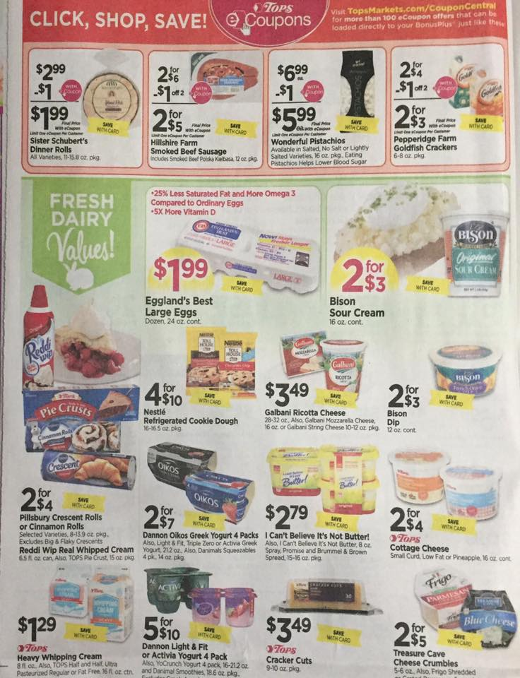 Tops Markets Ad Scan Week Of 4 9 17 To 4 15 17 Page 4a
