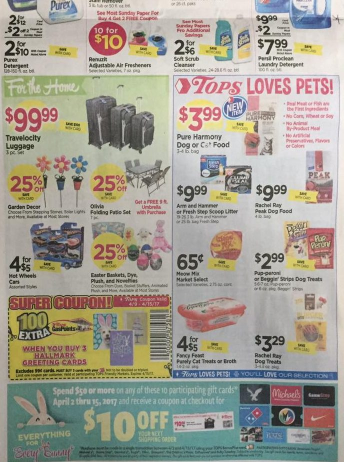 Tops Markets Ad Scan Week Of 4 9 17 To 4 15 17 Page 8b