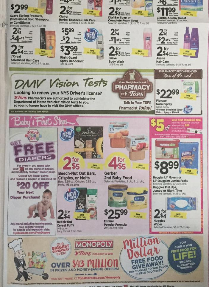 Tops Markets Ad Scan Week Of 4 9 17 To 4 15 17 Page 9b