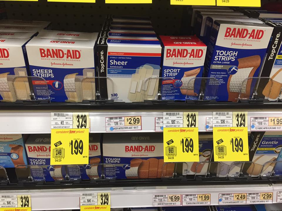 Band Aid Sale At Wegmans