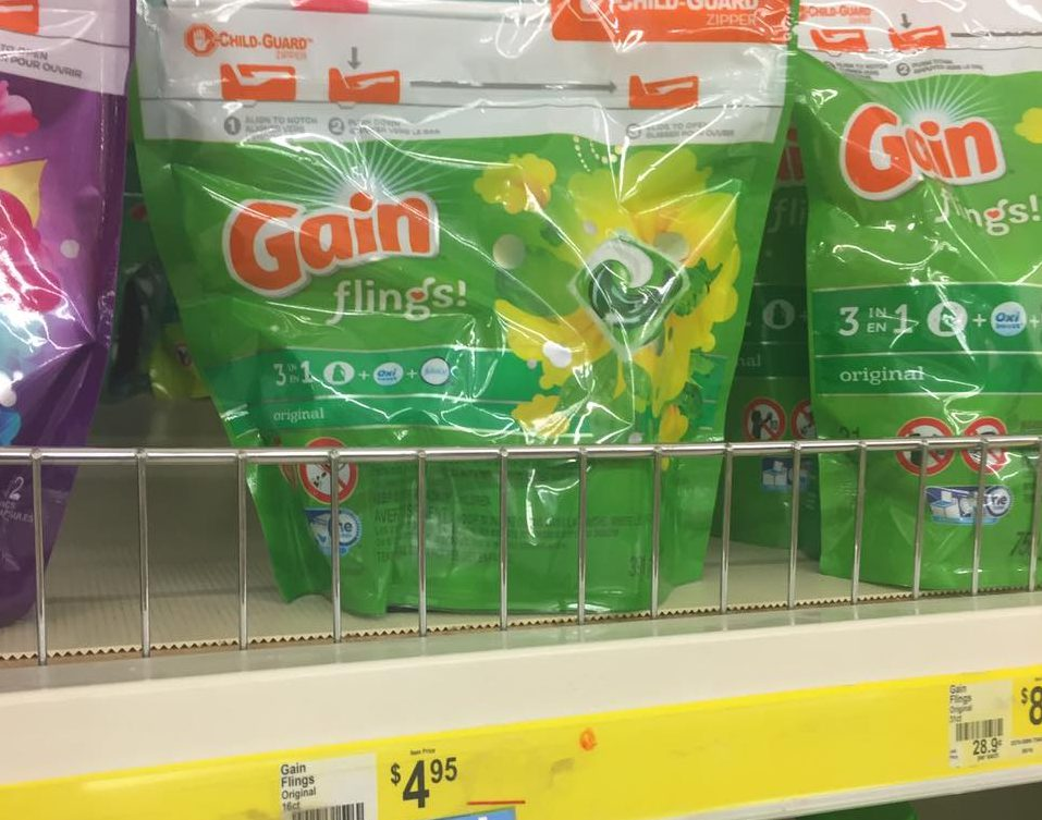 Gain Flings Sale At Dollar General Thru 4 22 17