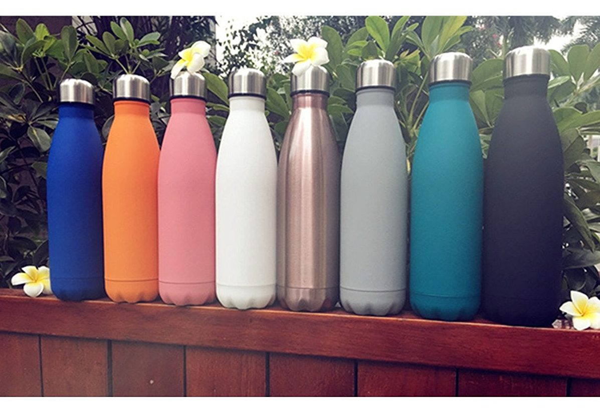 KINGSO 17oz Double Wall Vacuum Cool Insulation Stainless Steel Water Bottle