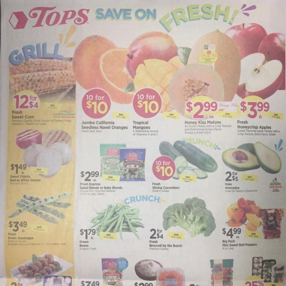 Tops Markets Ad Scan Week Of 5 28 17 To 6 3 17 Page 10a