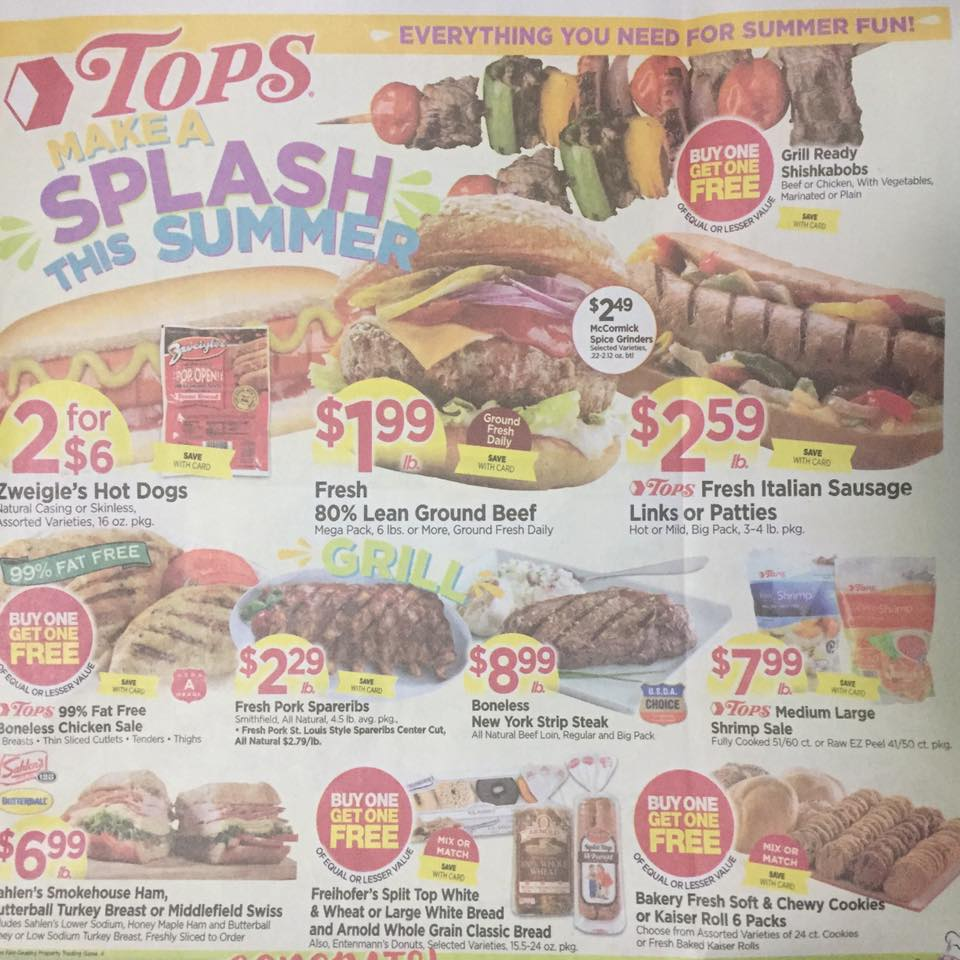 Tops Markets Ad Scan Week Of 5 28 17 To 6 3 17 Page 1a