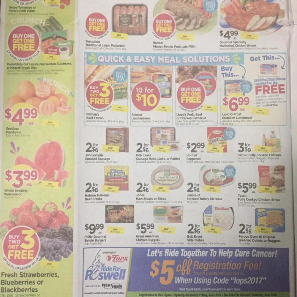 Tops Markets Ad Scan Week Of 5 28 17 To 6 3 17 Page 2b