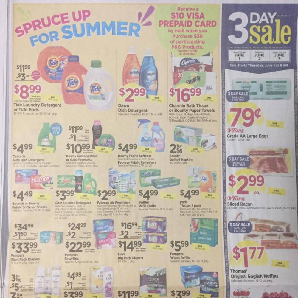 Tops Markets Ad Scan Week Of 5 28 17 To 6 3 17 Page 9a