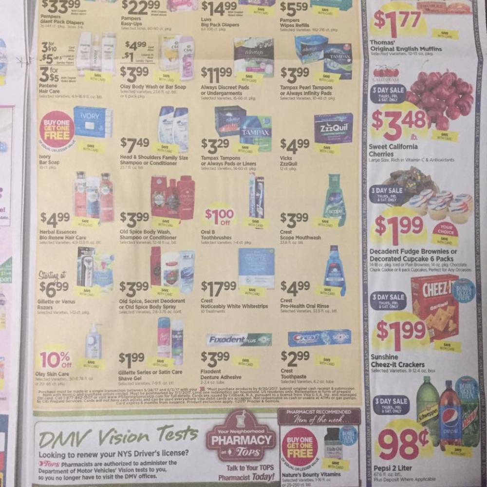 Tops Markets Ad Scan Week Of 5 28 17 To 6 3 17 Page 9b