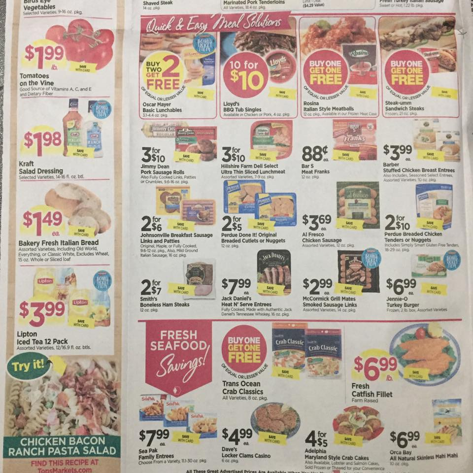 Tops Markets Ad Scan Week Of 5 7 17 To 5 13 17 Page 2b