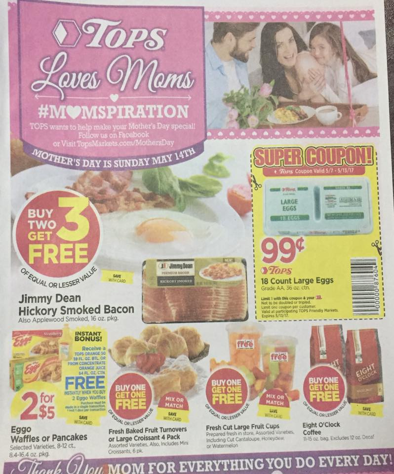 Tops Markets Ad Scan Week Of 5 7 17 To 5 13 17 Page W1a