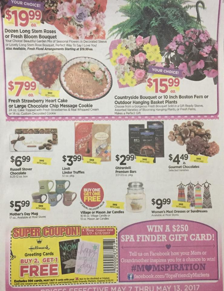 Tops Markets Ad Scan Week Of 5 7 17 To 5 13 17 Page W1b