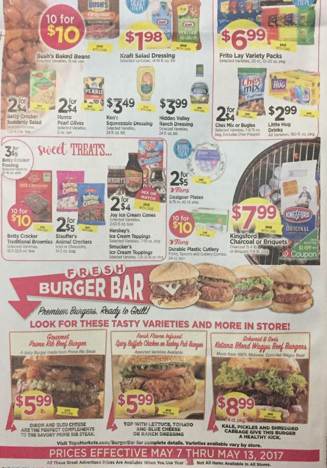 Tops Markets Ad Scan Week Of 5 7 17 To 5 13 17 Page W2b
