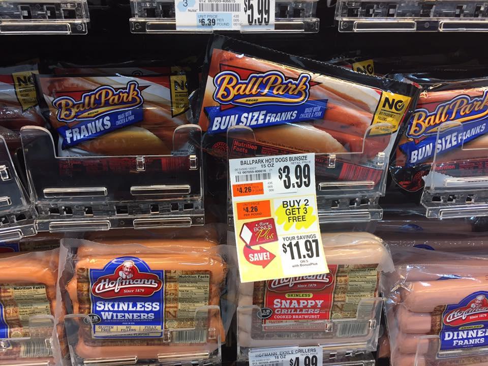 Ball Park Hot Dogs Bogo Deal At Tops