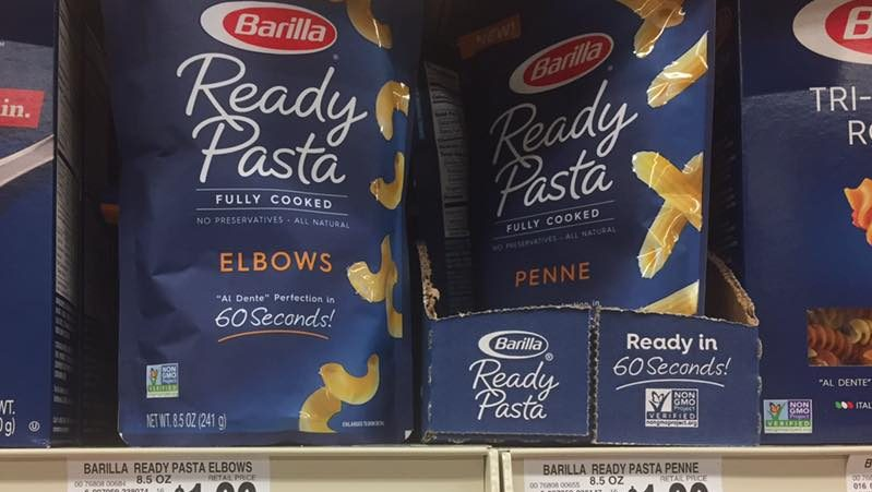 Barilla Ready Pasta At Tops Markets