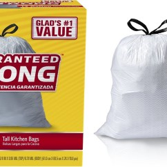 Glad Tall Kitchen Drawstring Trash Bags Wall Faucets 90 Count Only 10 11 My
