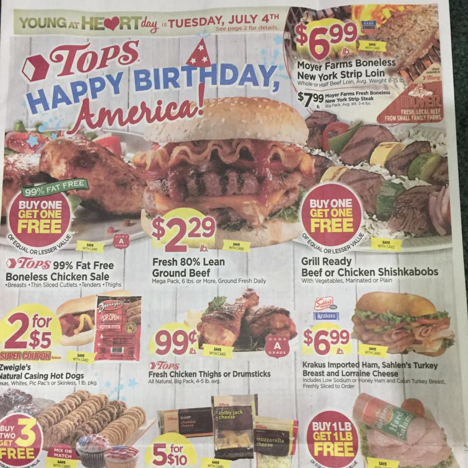 Tops Markets Ad Scan Week Of 7 2 Page 1a