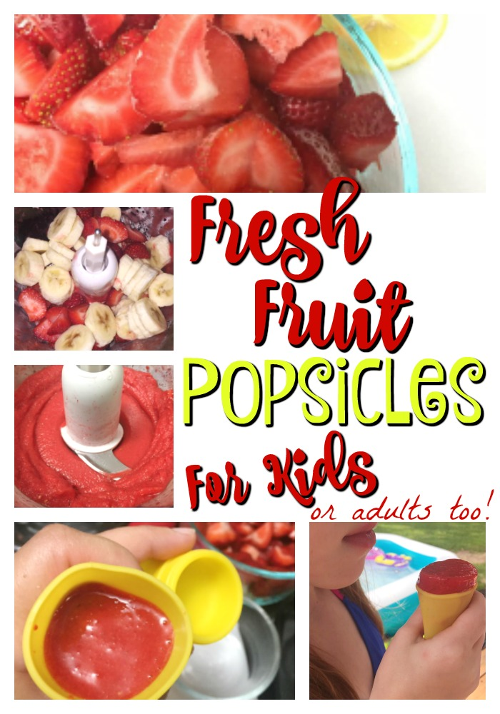 Fresh Fruit Popsicles For Kids Or Adults Too