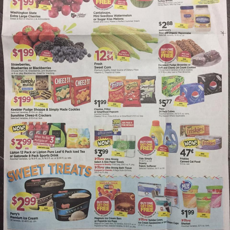Tops Markets Ad Scan Week Of 7 23 Page 1b