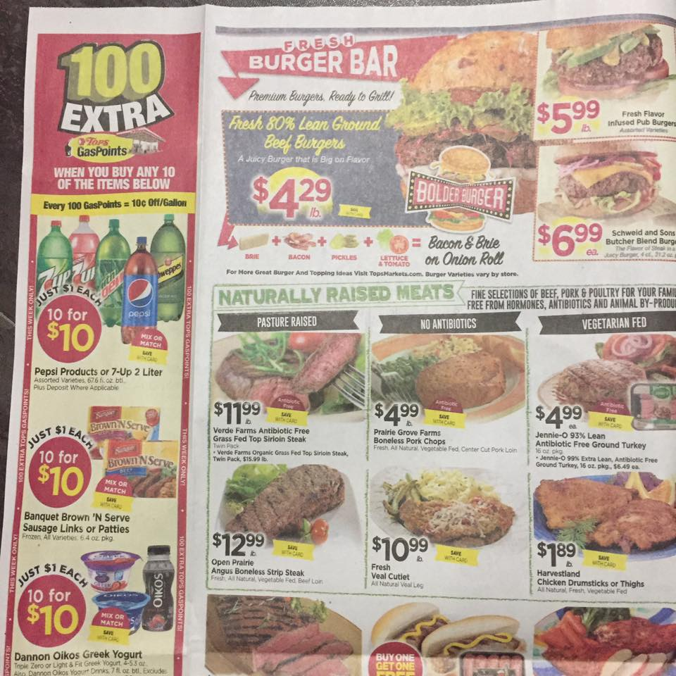 Tops Markets Ad Scan Week Of 7 23 Page 2a