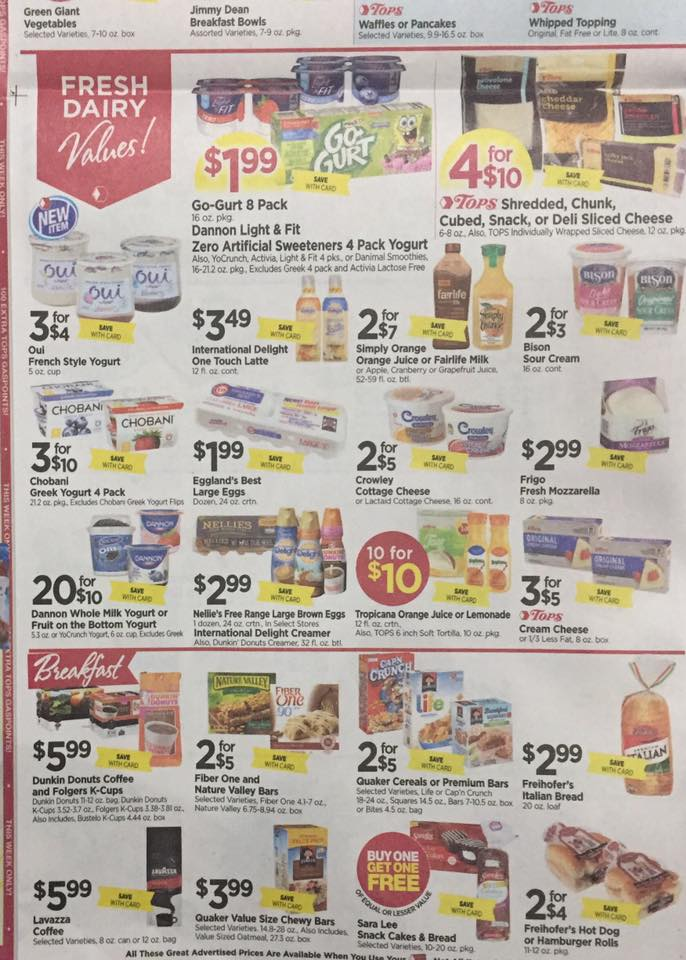 Tops Markets Ad Scan Week Of 7 23 Page 4b