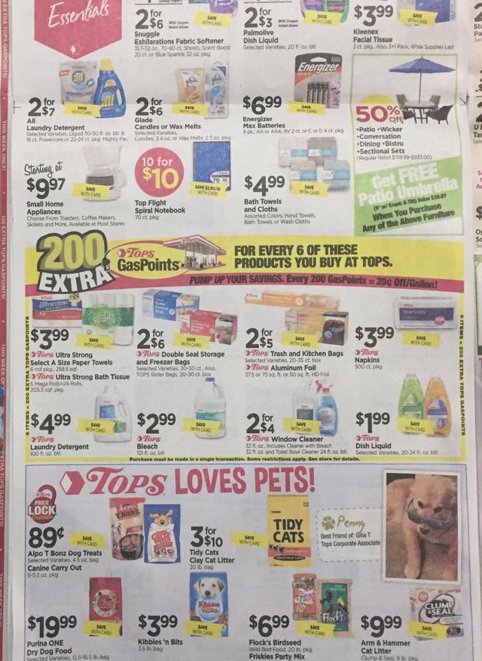 Tops Markets Ad Scan Week Of 7 23 Page 6b