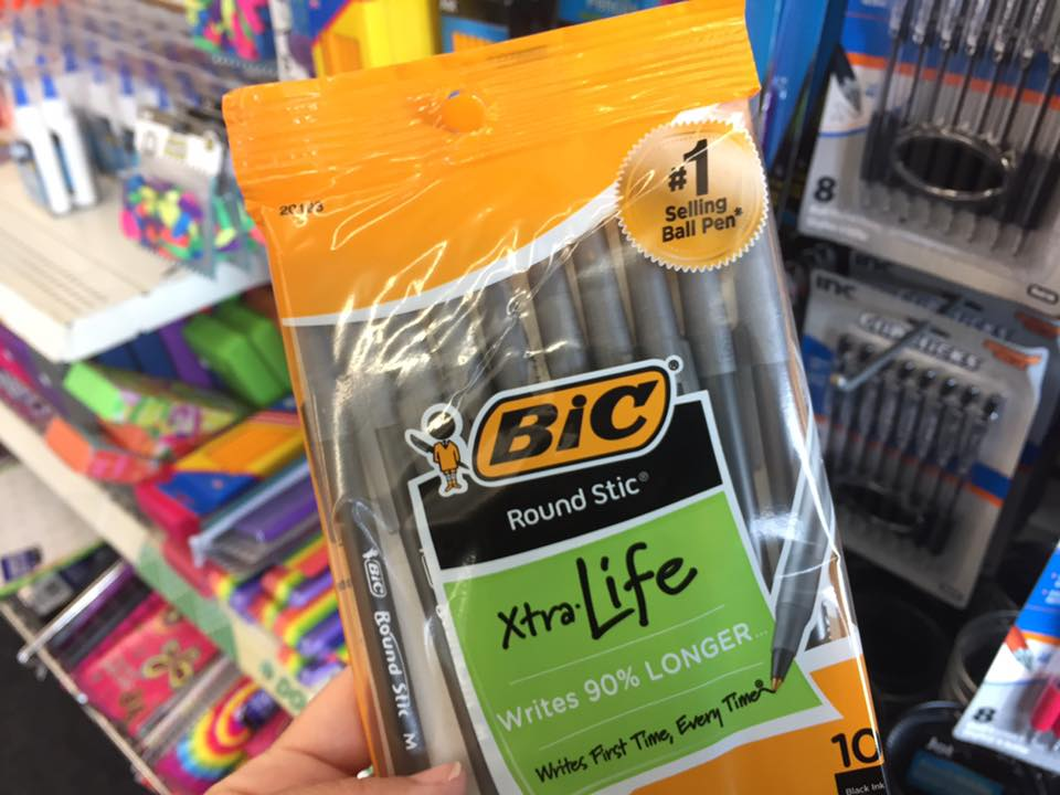 Bic Pens At The Dollar Tree