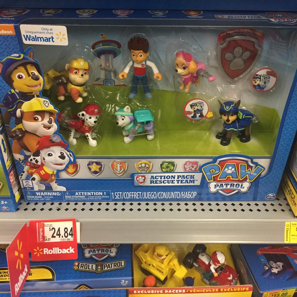 Paw Patrol Pups Walmart Toy Clearance
