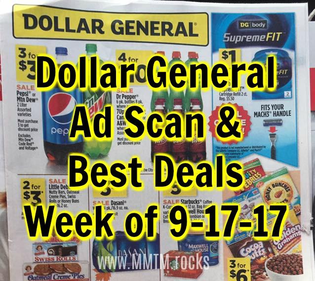 Dollar General Ad Scan & Best Deals Week Of 9 17 17