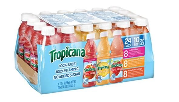 Tropicana 100% Juice 3 Flavor Fruit Blend Variety Pack