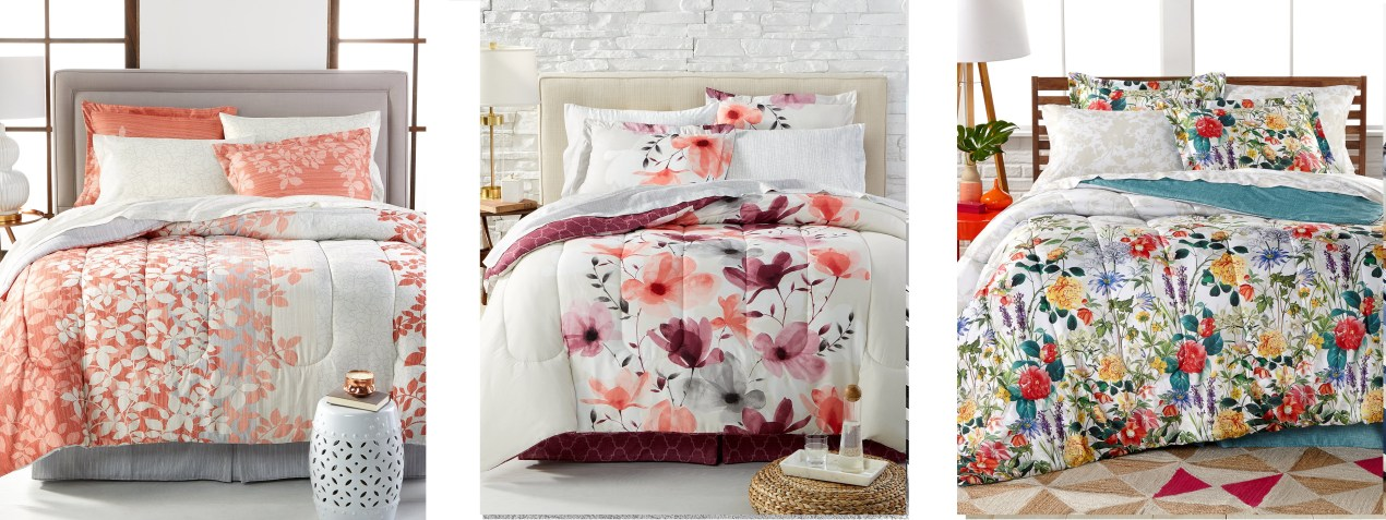 8 Pc Reversible Queen Bedding Floral