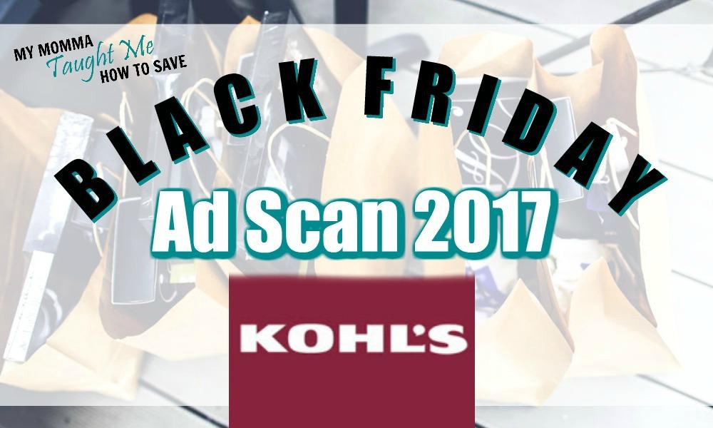 Kohl's Black Friday Ad Scan 2017