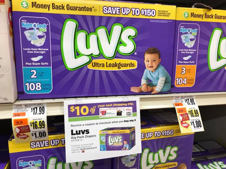 Luvs Diapers Big Pack Deal At Tops Plus Catalina Deal