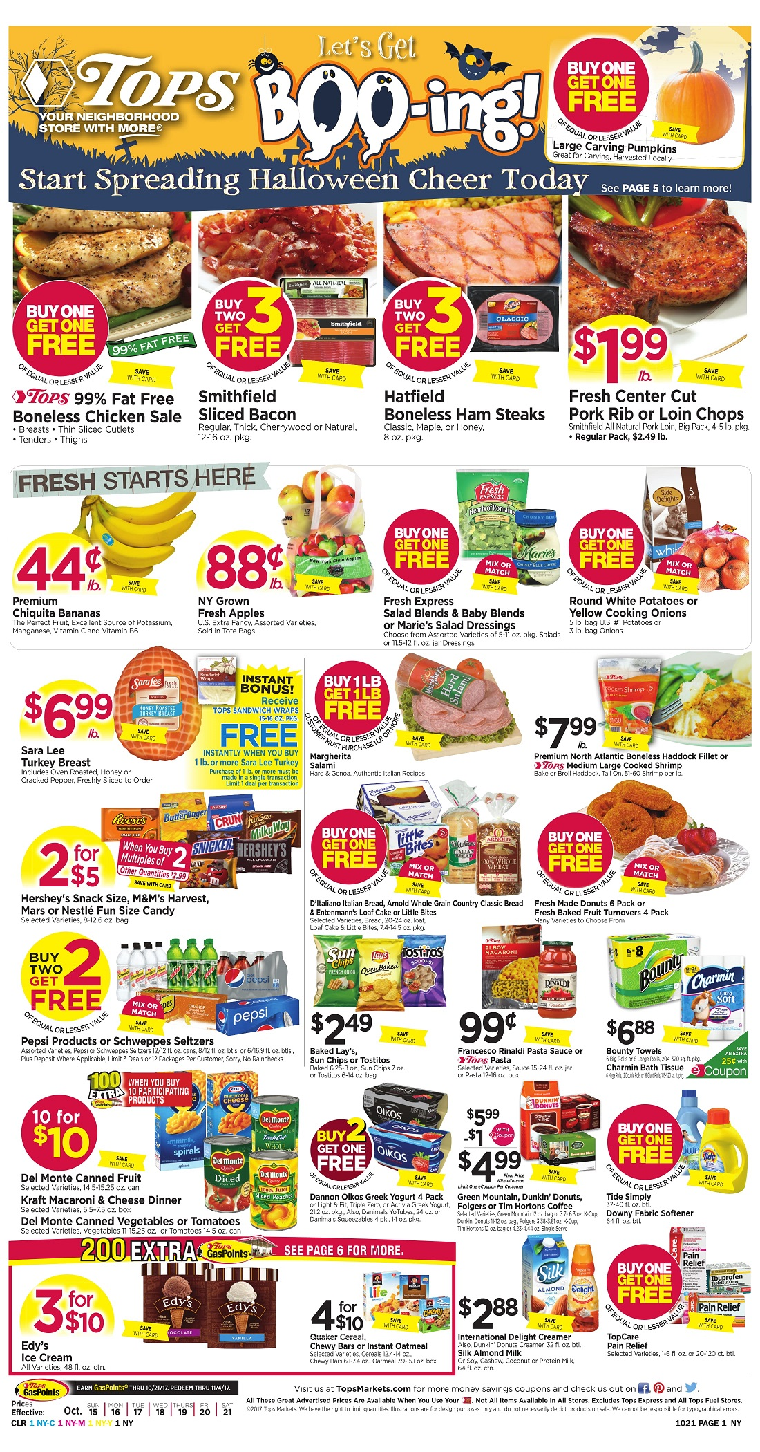 Tops Markets Ad Preview Week 10 15 Page 1