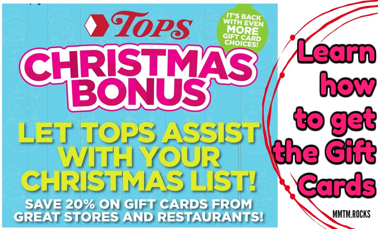 tops markets christmas bonus gift card promo - Christmas Gift Card Deals