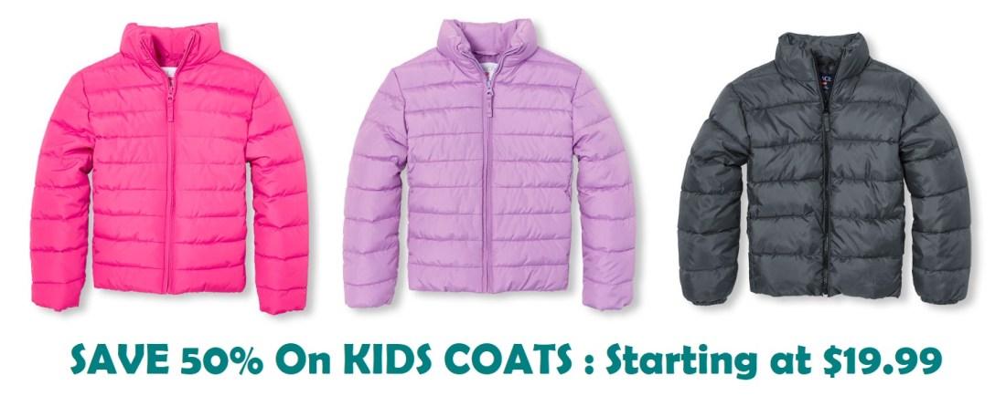 Kids Coats 50% Off Starting At $19 99
