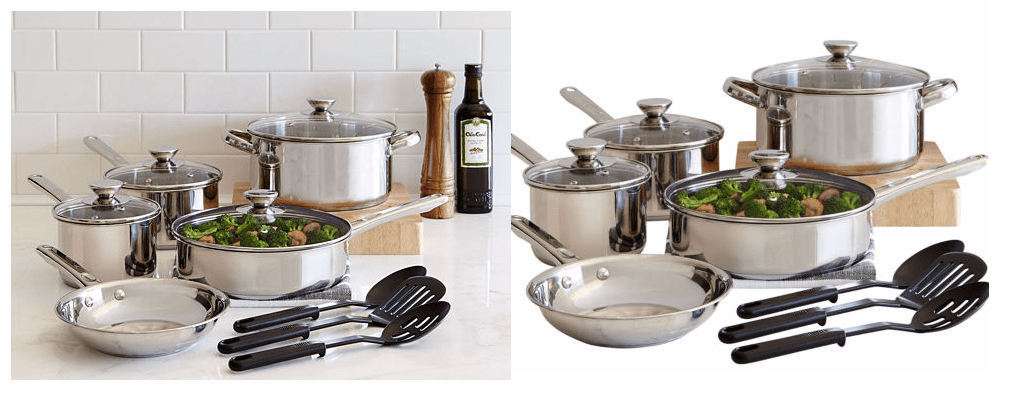 Cooks 12 Pc Stainless Steel Cookware Set