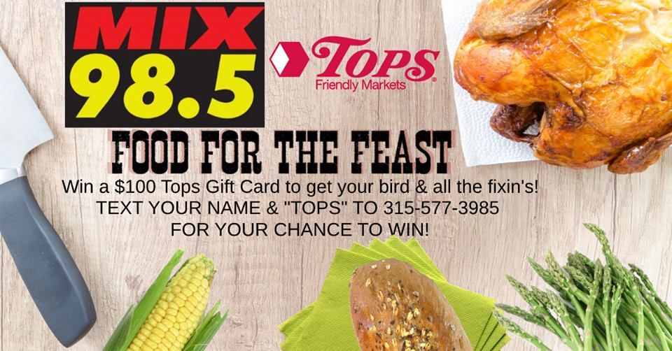Tops Giveaway $100 Gift Card