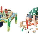 Wooden 50 Piece Train Set With Small Table