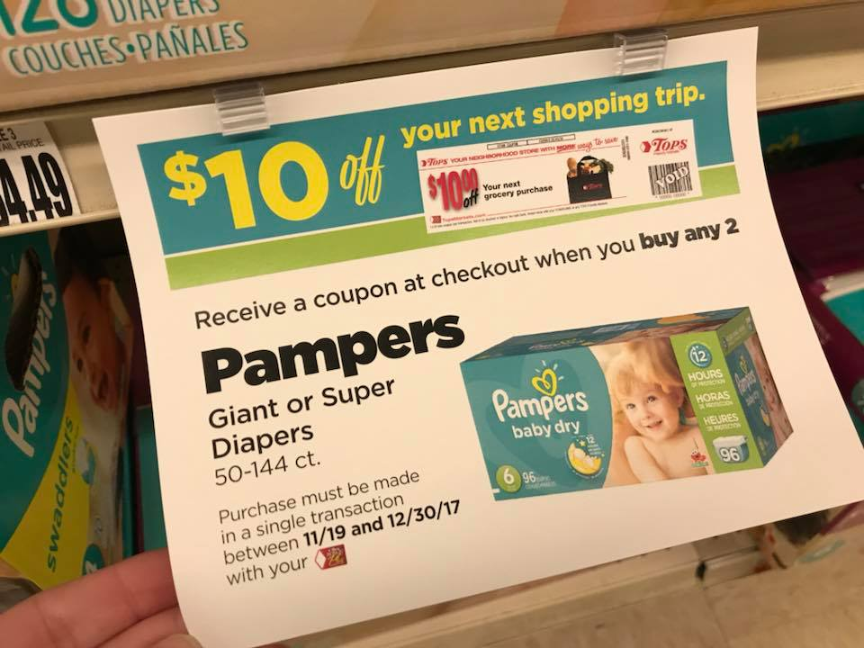 Pampers Catalina Offer At Tops Market