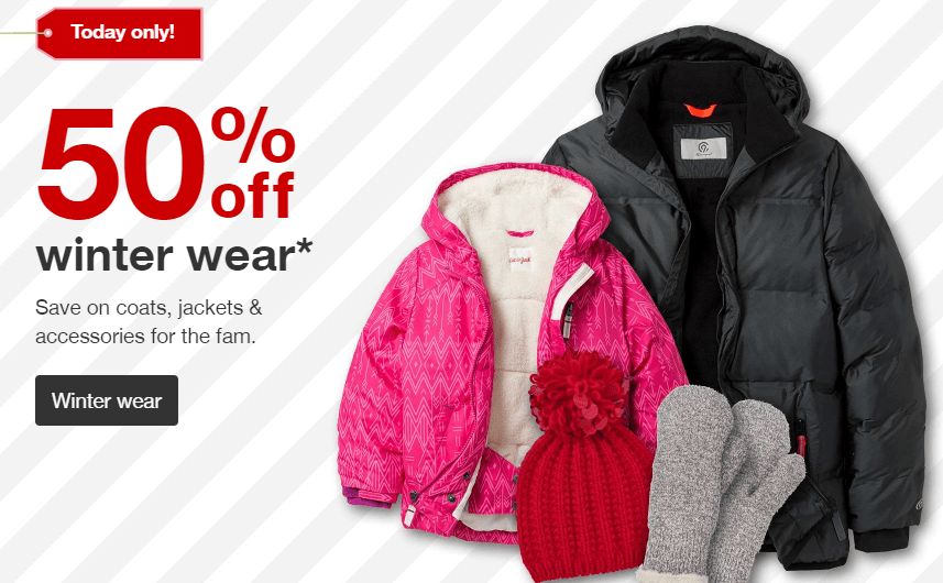 50% Off Outer Wear At Target
