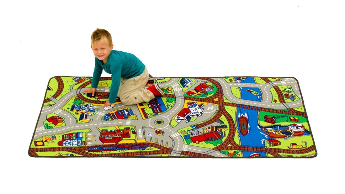 Extra Large Learning Carpets Ride The Train
