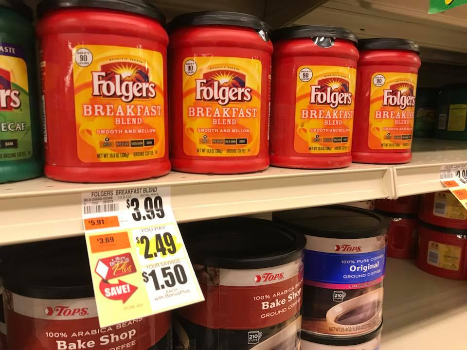 Folgers Deal At Tops