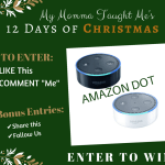 My Momma Taught Me's 12 Days Giveaway Day 5 2017