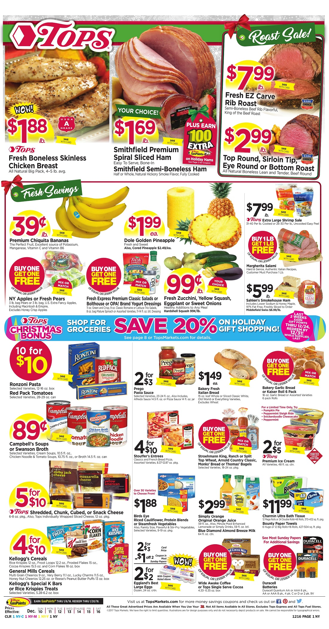 Tops Markets Ad Preview Week 12 10 Page 1